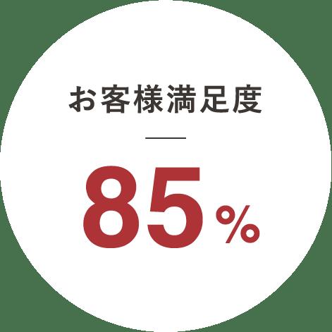 お客様満足度85%